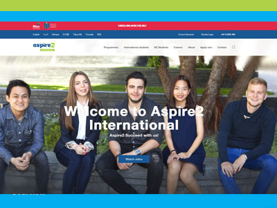 Aspire2 International University Website